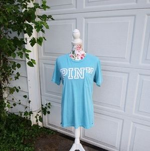 VS PINK pocket t-shirt cute💙💙